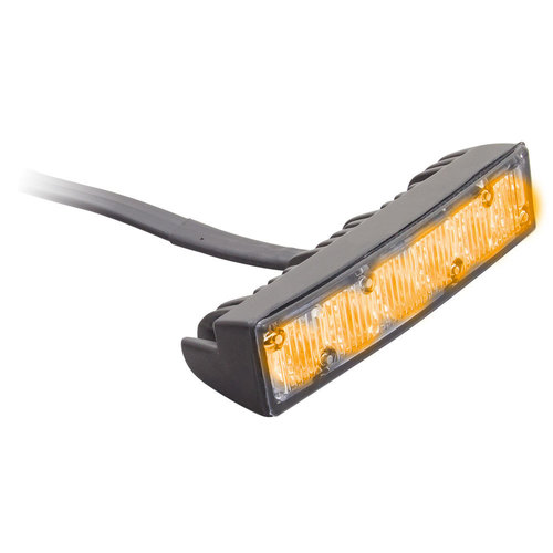 Amber Grille Marker Lights - 4.1 Inch, 6 LED