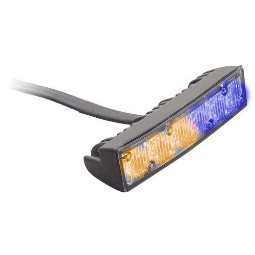 Bi-Color Blue/Amber Marker Lights - 4.1 Inch, 6 LED