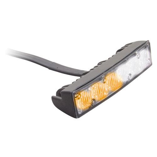 White/Amber Grille Marker Lights - 4.1 Inch, 6 LED