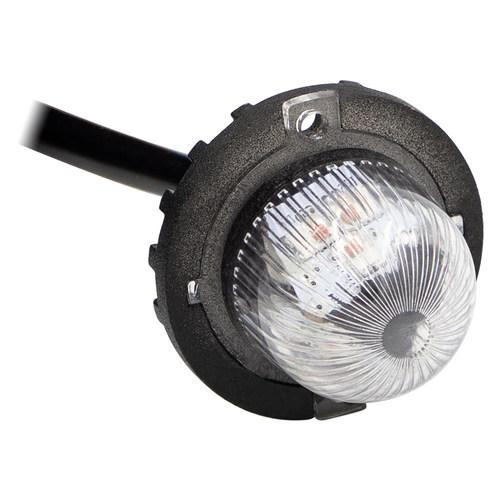 Hidden Strobe Amber Marker Lights - 1 Inch, 9 LED