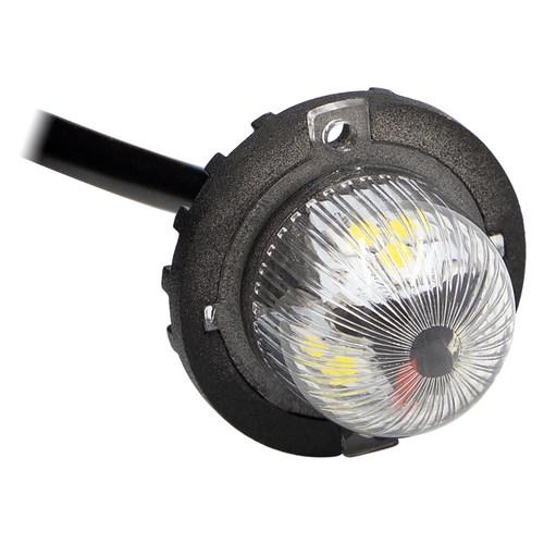 Hidden Strobe White Marker Lights - 1 Inch, 9 LED