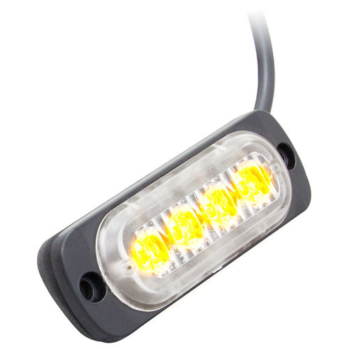Amber Lite Marker Lights - 3.4 Inch, 4 LED