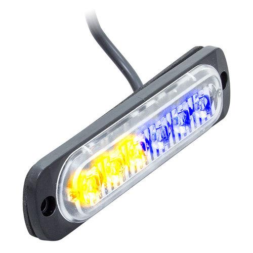 Bi-Color Blue/Amber Marker Lights - 4.4 Inch, 6 LED