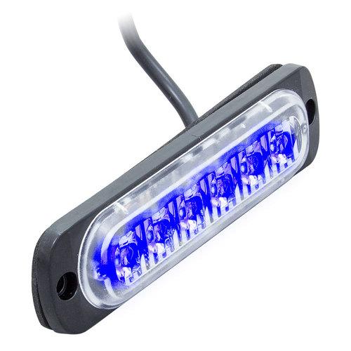 Single Color Blue Lite Marker Lights - 4.4 Inch, 6 LED