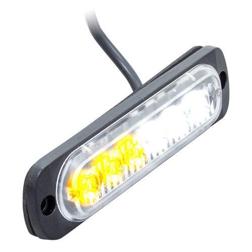 White/Amber Lights - 4.4 Inch, 6 LED