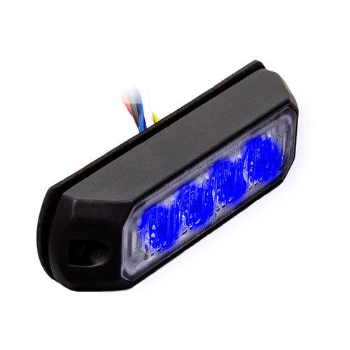 Single Color Blue Marker Lights - 3.8 Inch, 4 LED