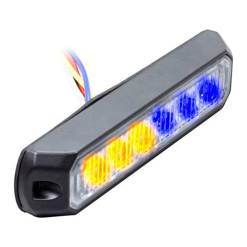 Bi-Color Blue/Amber Marker Lights - 4.9 Inch, 6 LED