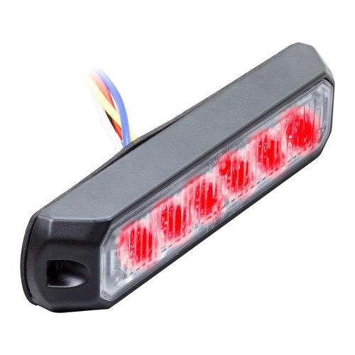 Single Color Red Marker Lights - 4.9 Inch, 6 LED