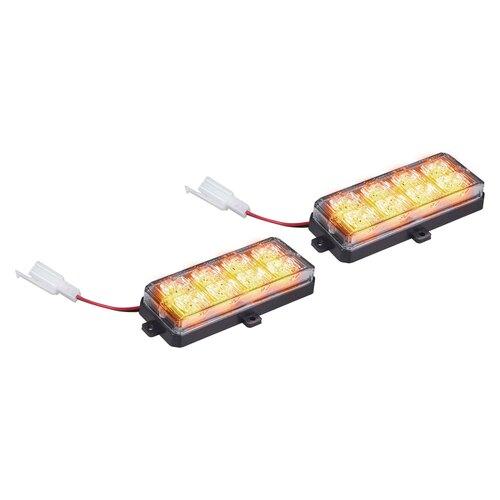 Amber Grille Strobe Light Kit - 8 LED, 2-Pack