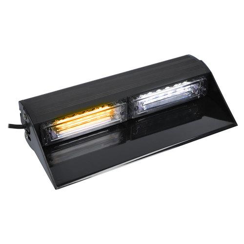 White/Amber Interior Windsheild Lightbar - 9.84 Inch, 8 LED