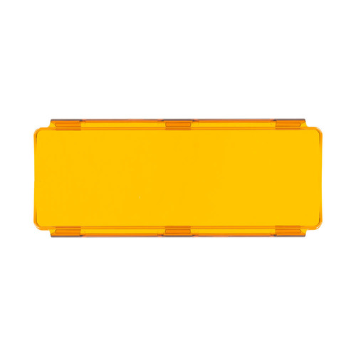 Amber Protective Lens Cover for Straight Lightbars - 8 Inch
