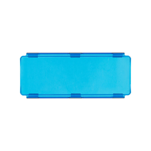 Blue Protective Lens Cover for Straight Light Bars - 8 Inch