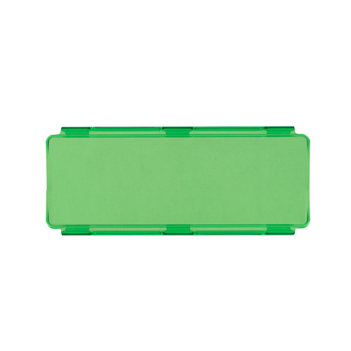 Green Protective Lens Cover for Straight Lightbars - 8 Inch
