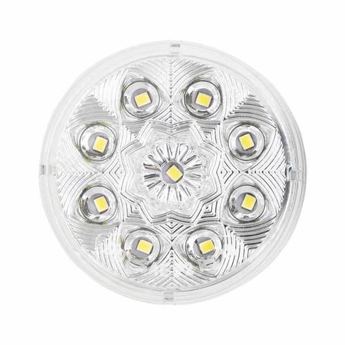 Round White Marker/Clearance Light - 2.5 Inch, 9 LED