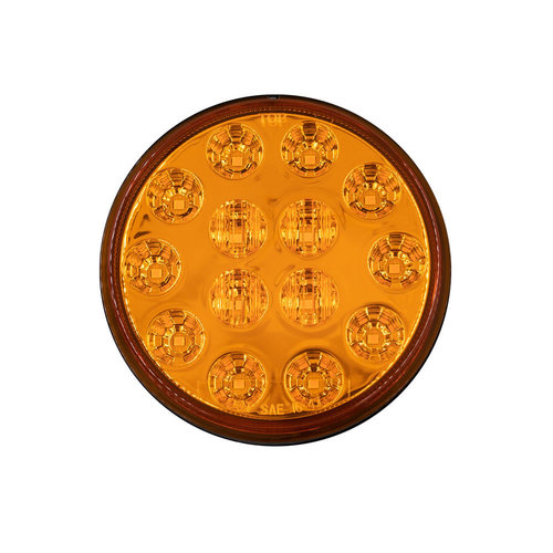Round Amber Lights - 4 Inch, 14 LED