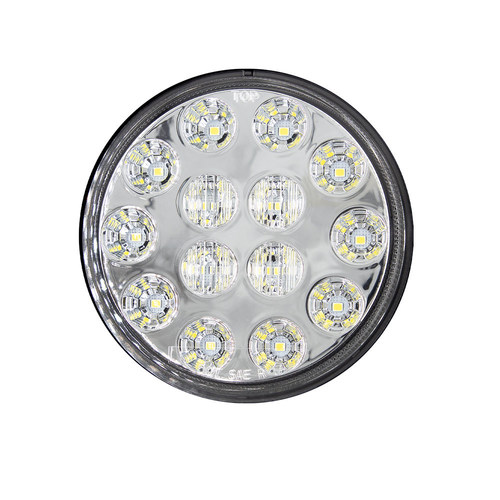 Round White Lights with Grommet - 4 Inch, 14 LED