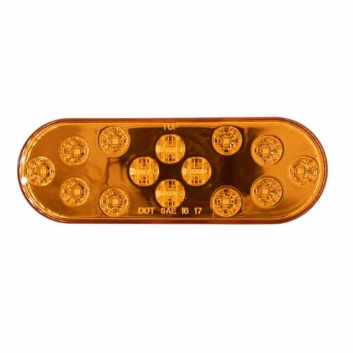 Oval Amber Light - 6 Inch, 14 LED