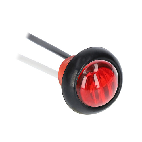 Round Red Marker/Clearance Light - .75 Inch, 3 LED