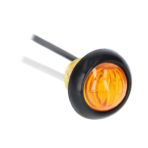 Round Amber Marker/Clearance Light - .75 Inch, 3 LED