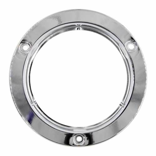 Stainless Flange for Round Trailer Lights - 4 Inch