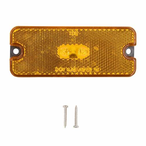 Amber Trailer Marker/Clearance Light with Reflector - 4 Inch, 2 LED