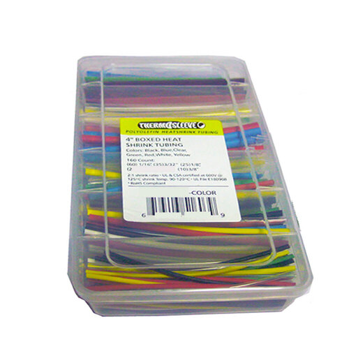 Heat Shrink Kit - 160 Pc 4 in 2:1 - Assorted Colors