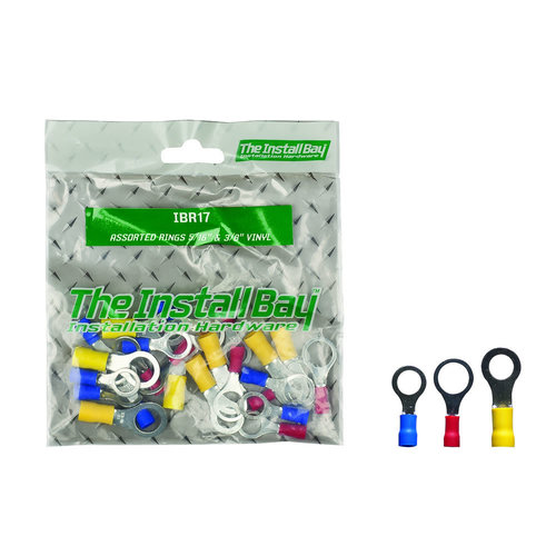 Assorted Ring Terminals 5/16 & 3/5 IN Vinyl - Retail Pack