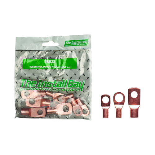 Assorted  Rings Large Gauge Copper - Retail Pack