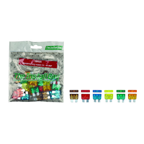 Assorted ATC Fuses 7.5 - 40 Amp - Retail Pack