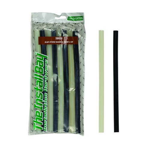 Glue Sticks Black /Clear (x4) ea - 8 piece - Retail Pack