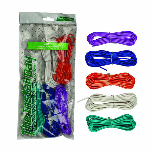 Assorted Primary Wire 18 Gauge 10ft each - 5pc - Retail Pack