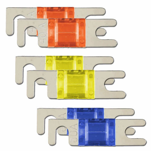 MANL ASSORTED FUSES 2 EA 40 /50 /60 AMP  - Retail Pack