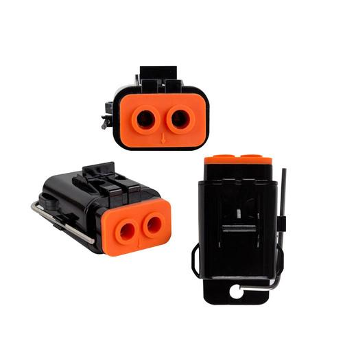 Waterproof Dual ATC Fuse Holder -Up to 8GA 80 Amp- Retail Pk