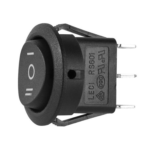 Momentary Off Momentary Switch Round - 5 PK
