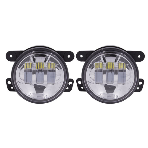 Fog Lights with Siver Face - 4 Inch