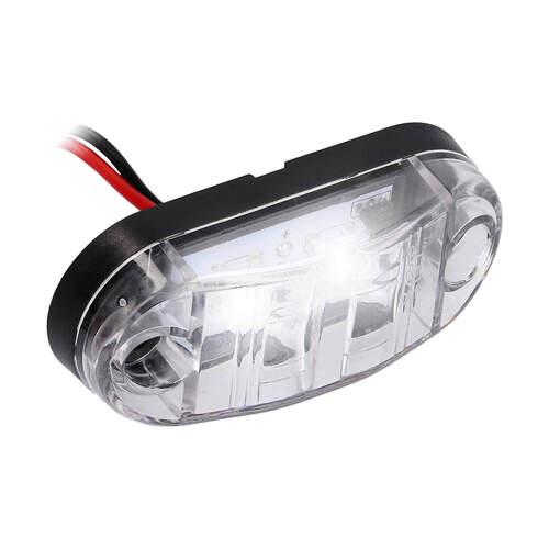 White 2-LED Accent Light - Clear Plastic Bezel