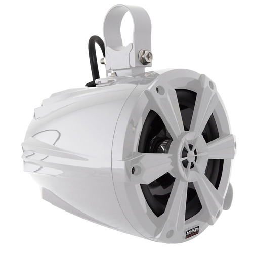 Tower Speakers with RGB Lights and White Housing - 6.5 Inch, Pair