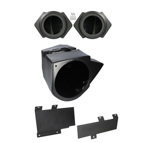 Audio Upgrade Kit for Speaker Pods with Subwoofer Box and Amplifier Bracket