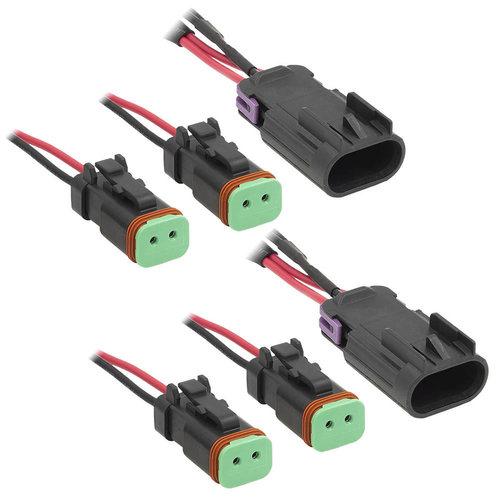 Headlight Adapter Harness with Stock Halogen Lights - Polaris