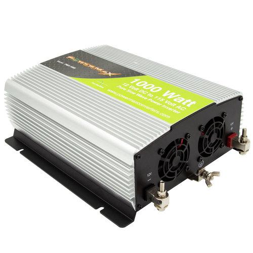 1000w Pure Sine Wave 12VDC to 120V AC Inverter