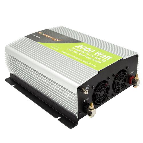 2000W Pure Sine Wave 12VDC to 120V AC Inverter
