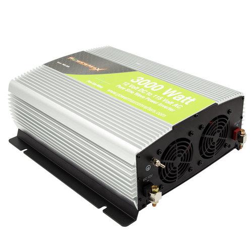 3000W Pure Sine Wave 12VDC to 120V AC Inverter