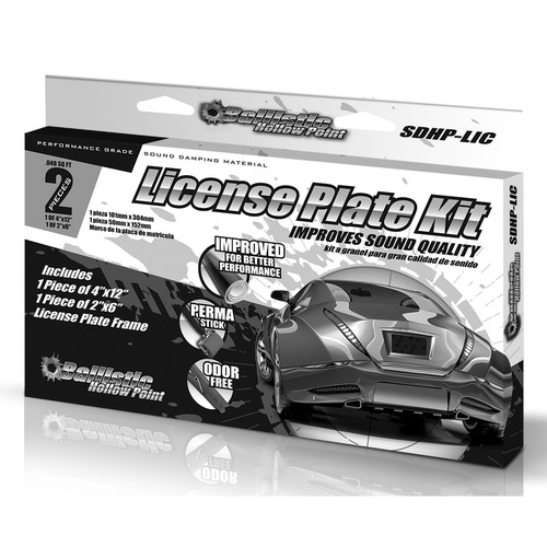 LICENSE PLATE KIT - Hollow Point Series