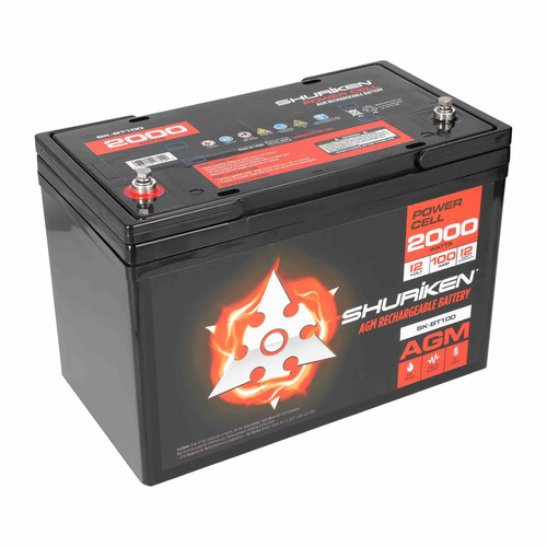 2000W 100AMP Hours Large Size AGM 12V Battery