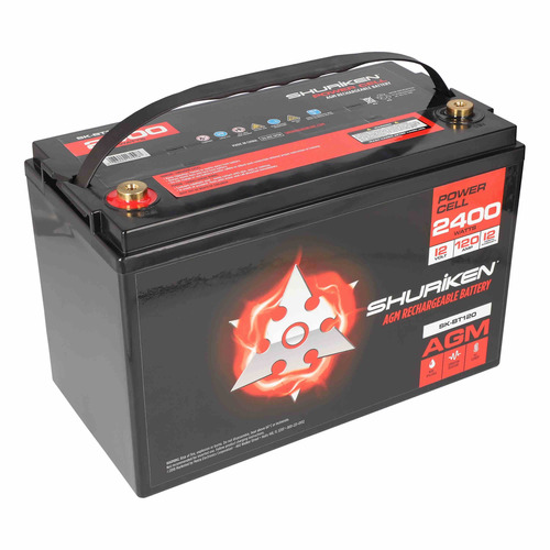 2400W 120AMP Hours Large Size AGM 12V Battery