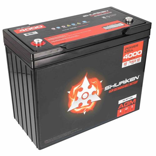 4000W 140AMP Hours Large Size AGM 12V Battery
