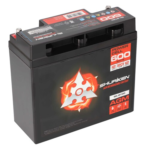 600W 20AMP Hours Compact Size AGM 12V Battery