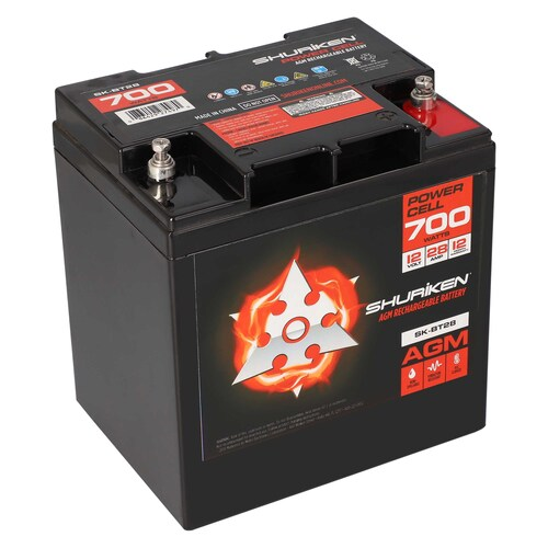 700W 28AMP Hours Compact Size AGM 12V Battery