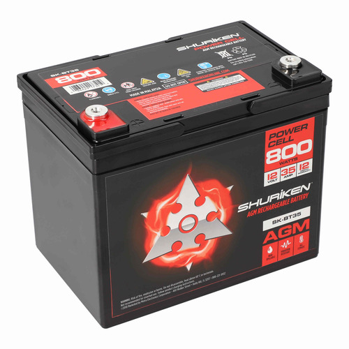 800W 35AMP Hours Compact Size AGM 12V Battery