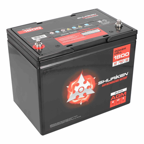 1800W 80AMP Hours Large Size AGM 12V Battery